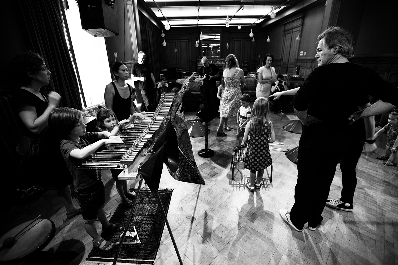 Michel Deneuve - Workshop Improv With Bashet Structures For Education by Laurent Orseau - Summer Bummer Festival - De Studio - Antwerp, Belgium #6
