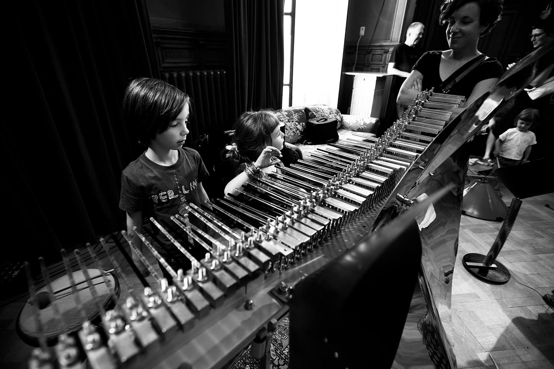 Michel Deneuve - Workshop Improv With Bashet Structures For Education by Laurent Orseau - Summer Bummer Festival - De Studio - Antwerp, Belgium #8