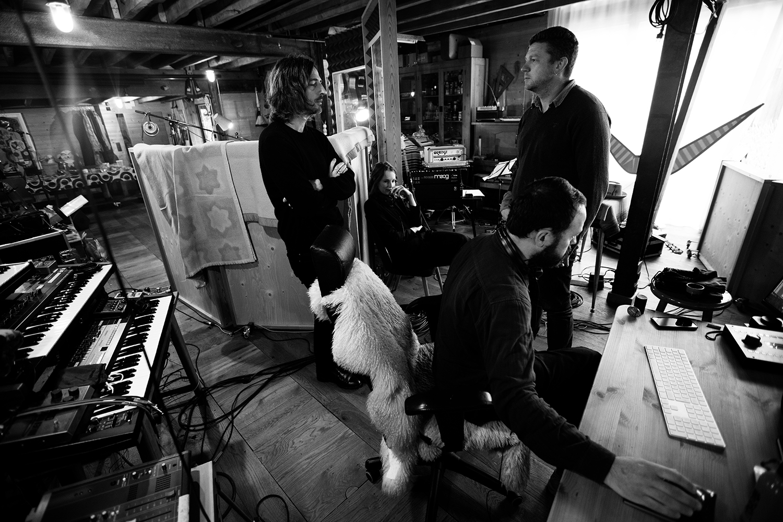 Nel Ponsaers with Frederic Lyenn Jacques & Frederik Meulyzer by Laurent Orseau - Recording - The Rabbit Field - Antwerp, Belgium #14