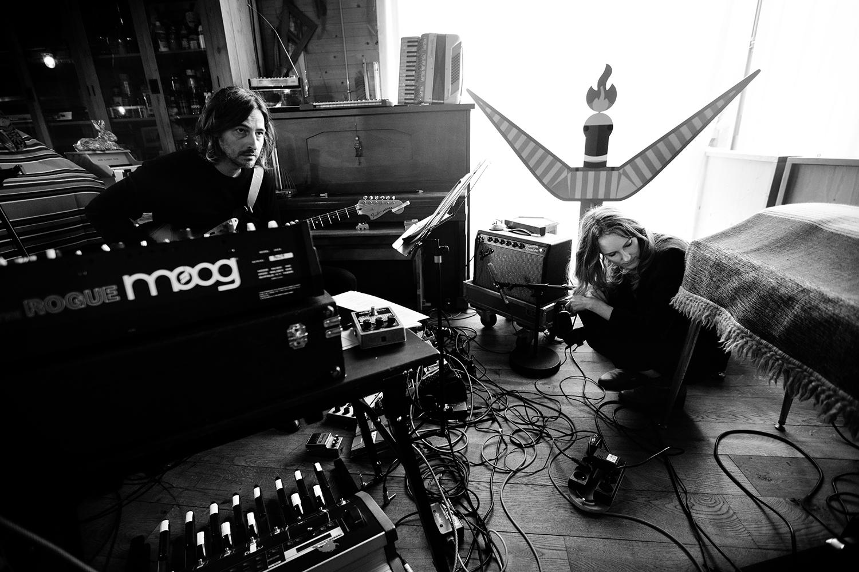 Nel Ponsaers with Frederic Lyenn Jacques & Frederik Meulyzer by Laurent Orseau - Recording - The Rabbit Field - Antwerp, Belgium #18