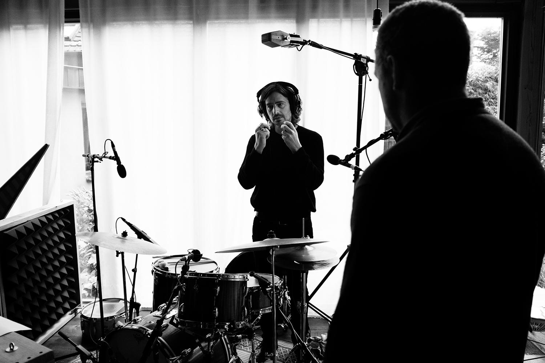 Nel Ponsaers with Frederic Lyenn Jacques & Frederik Meulyzer by Laurent Orseau - Recording - The Rabbit Field - Antwerp, Belgium #24