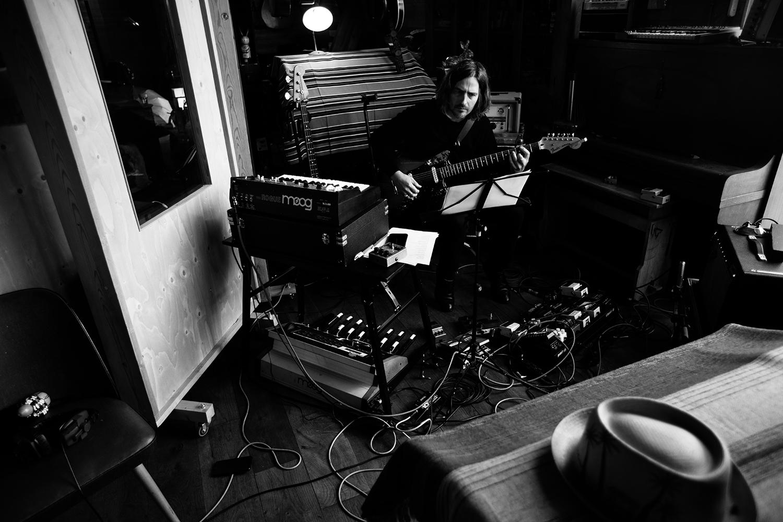 Nel Ponsaers with Frederic Lyenn Jacques & Frederik Meulyzer by Laurent Orseau - Recording - The Rabbit Field - Antwerp, Belgium #27