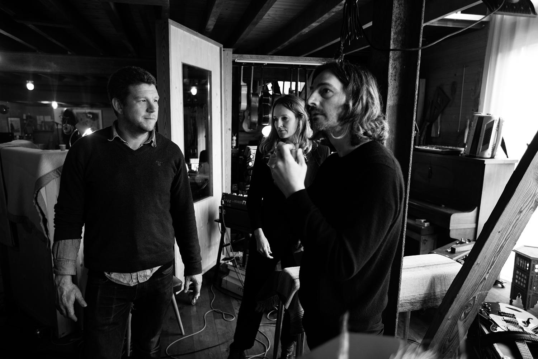 Nel Ponsaers with Frederic Lyenn Jacques & Frederik Meulyzer by Laurent Orseau - Recording - The Rabbit Field - Antwerp, Belgium #9