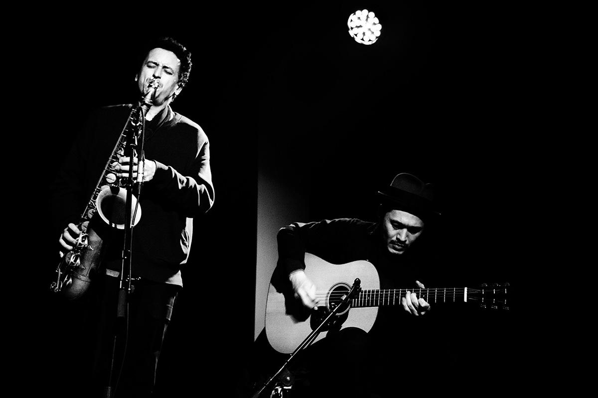 Pascal Niggenkemper & Joachim Badenhorst & Riuichi Daijo & Jean-Yves Evrard by Laurent Orseau - Concert - Les Ateliers Claus - Brussels, Belgium #6
