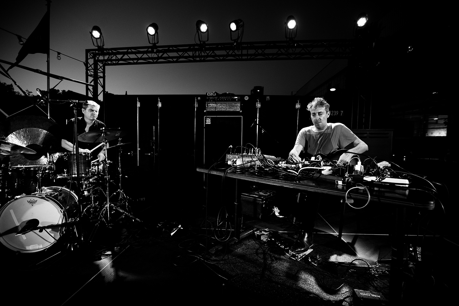 Oren Ambarchi & Will Guthrie by Laurent Orseau - Kanal - Centre Pompidou with Les Ateliers Claus - Brussels, Belgium #2