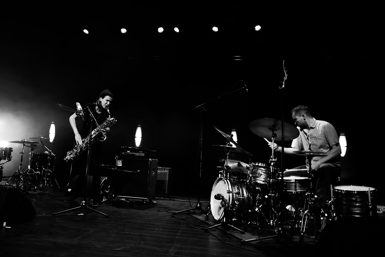 Paal Nilssen-Love & Hanne De Backer by Laurent Orseau - Summer Bummer Festival - De Studio - Antwerp, Belgium #1