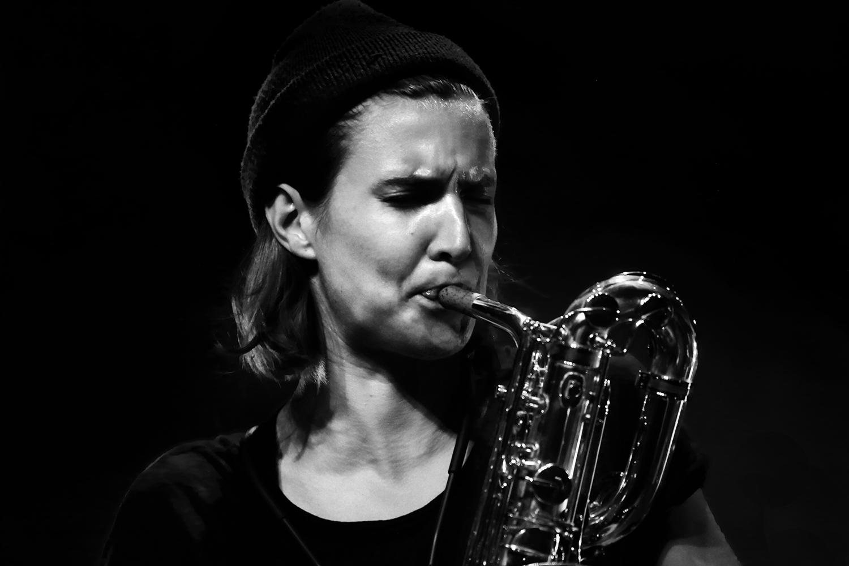 Paal Nilssen-Love & Hanne De Backer by Laurent Orseau - Summer Bummer Festival - De Studio - Antwerp, Belgium #2