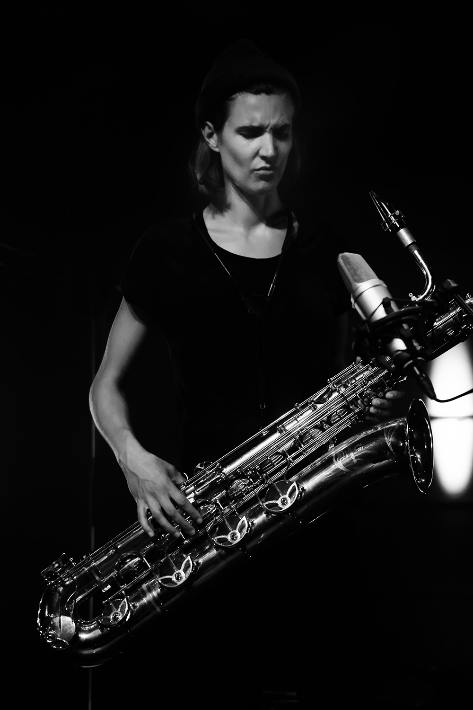 Paal Nilssen-Love & Hanne De Backer by Laurent Orseau - Summer Bummer Festival - De Studio - Antwerp, Belgium #5