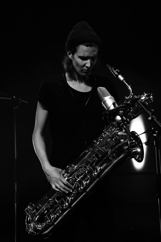 Paal Nilssen-Love & Hanne De Backer by Laurent Orseau - Summer Bummer Festival - De Studio - Antwerp, Belgium #6