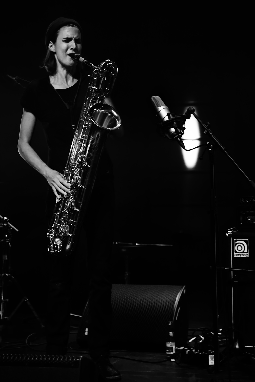 Paal Nilssen-Love & Hanne De Backer by Laurent Orseau - Summer Bummer Festival - De Studio - Antwerp, Belgium #7