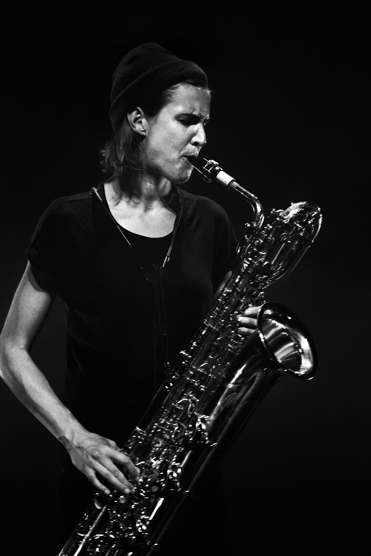 Paal Nilssen-Love & Hanne De Backer by Laurent Orseau - Summer Bummer Festival - De Studio - Antwerp, Belgium #8