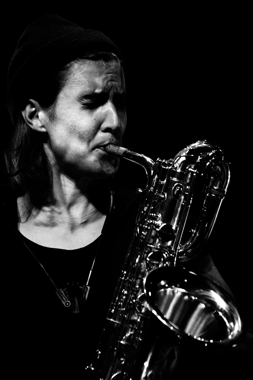 Paal Nilssen-Love & Hanne De Backer by Laurent Orseau - Summer Bummer Festival - De Studio - Antwerp, Belgium #9