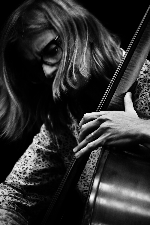 Playing With Standards Trio (Seppe Gebruers & Nils Vermeulen & Paul Lytton) by Laurent Orseau - Summer Bummer Festival - De Studio - Antwerp, Belgium #14