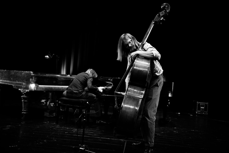 Playing With Standards Trio (Seppe Gebruers & Nils Vermeulen & Paul Lytton) by Laurent Orseau - Summer Bummer Festival - De Studio - Antwerp, Belgium #2