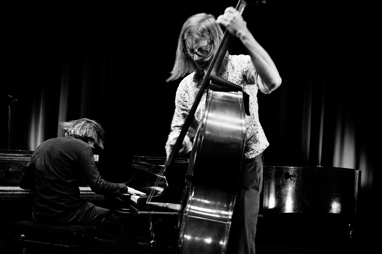Playing With Standards Trio (Seppe Gebruers & Nils Vermeulen & Paul Lytton) by Laurent Orseau - Summer Bummer Festival - De Studio - Antwerp, Belgium #4