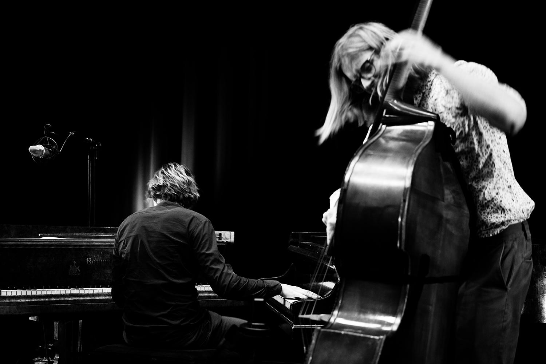 Playing With Standards Trio (Seppe Gebruers & Nils Vermeulen & Paul Lytton) by Laurent Orseau - Summer Bummer Festival - De Studio - Antwerp, Belgium #5
