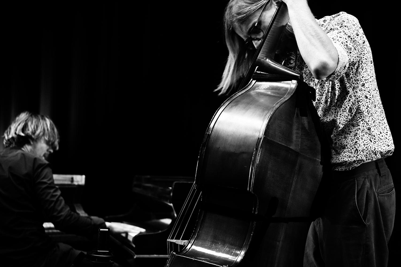 Playing With Standards Trio (Seppe Gebruers & Nils Vermeulen & Paul Lytton) by Laurent Orseau - Summer Bummer Festival - De Studio - Antwerp, Belgium #6