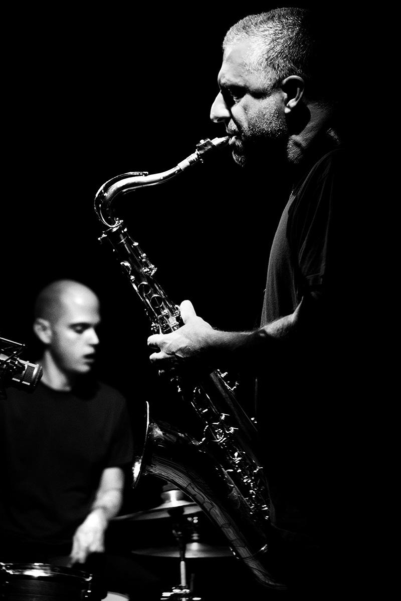 Rodrigo Amado & Chris Corsano by Laurent Orseau - Les Ateliers Claus - Brussels, Belgium #22