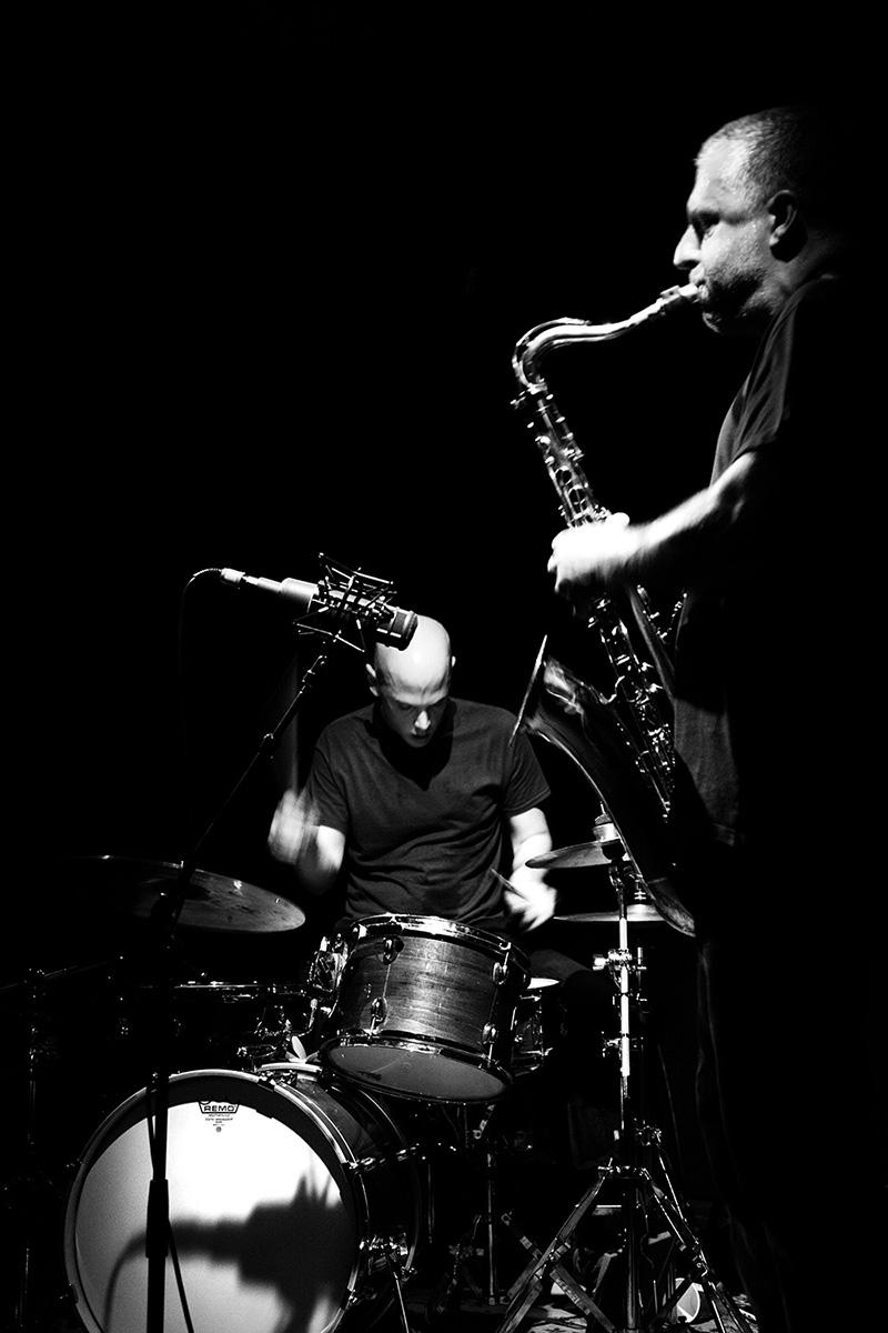 Rodrigo Amado & Chris Corsano by Laurent Orseau - Les Ateliers Claus - Brussels, Belgium #25