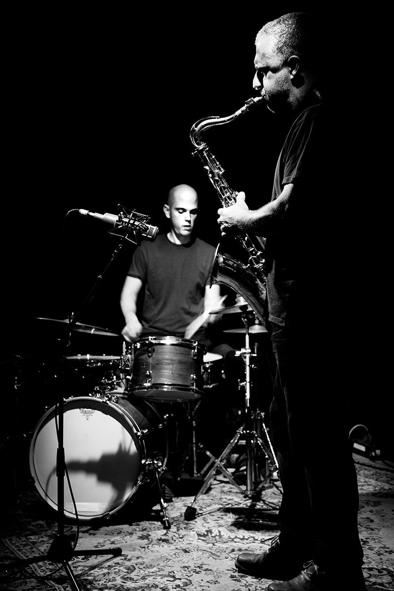 Rodrigo Amado & Chris Corsano by Laurent Orseau - Les Ateliers Claus - Brussels, Belgium #26