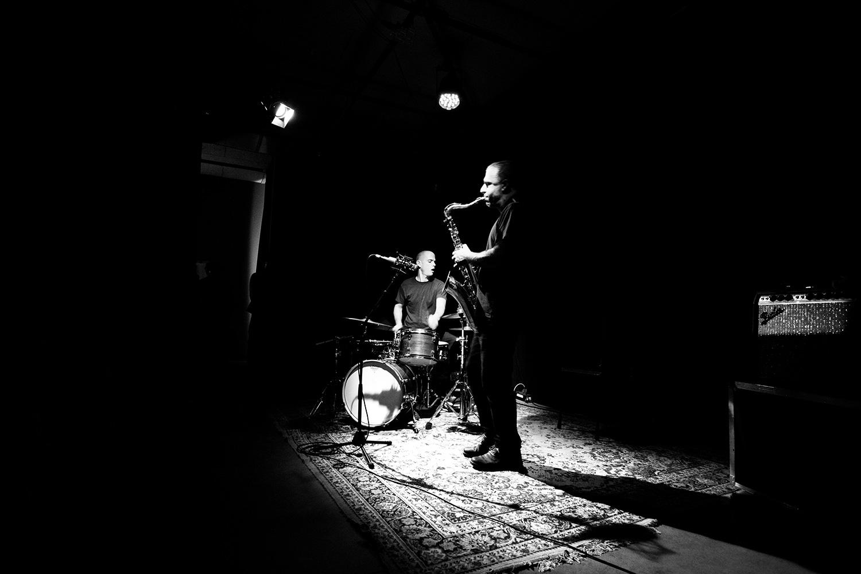 Rodrigo Amado & Chris Corsano by Laurent Orseau - Les Ateliers Claus - Brussels, Belgium #5