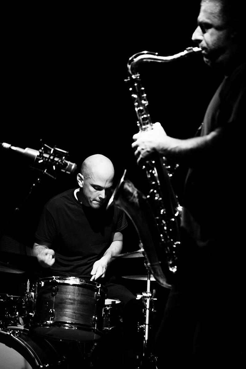 Rodrigo Amado & Chris Corsano by Laurent Orseau - Les Ateliers Claus - Brussels, Belgium #6
