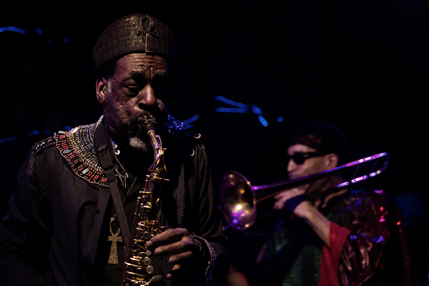 Sun Ra Arkestra directed by Marshall Allen by Laurent Orseau - Concert - Les Ateliers Claus - Brussels, Belgium #9