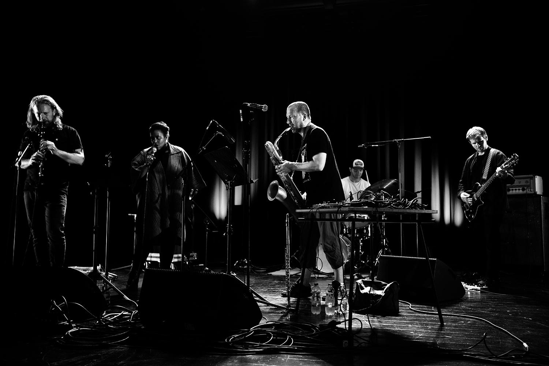 The End (Mats Gustafsson & Sofia Jernberg & Kjetil Møster & Anders Hana & Børge Fjordheim) by Laurent Orseau - Summer Bummer Festival - De Studio - Antwerp, Belgium #2