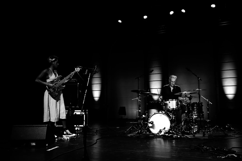 M.A.N. : Thurston Moore & Farida Amadou & Steve Noble by Laurent Orseau - Summer Bummer Festival - De Studio - Antwerp, Belgium #3