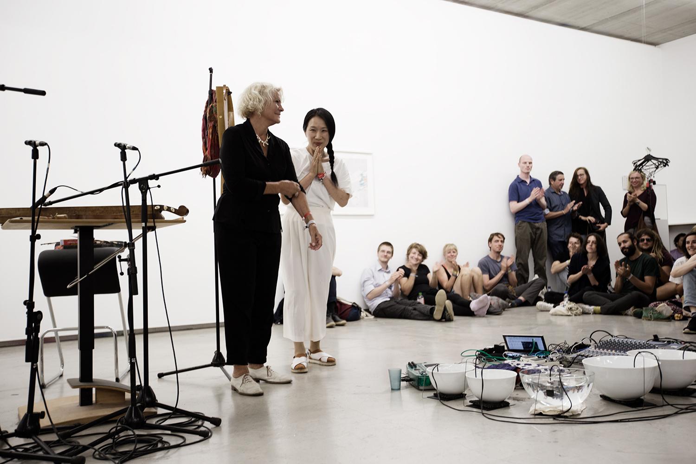Tomoko Sauvage & Emmanuelle Parrenin by Laurent Orseau - Meakusma Festival - Ikob - Eupen, Belgium #8