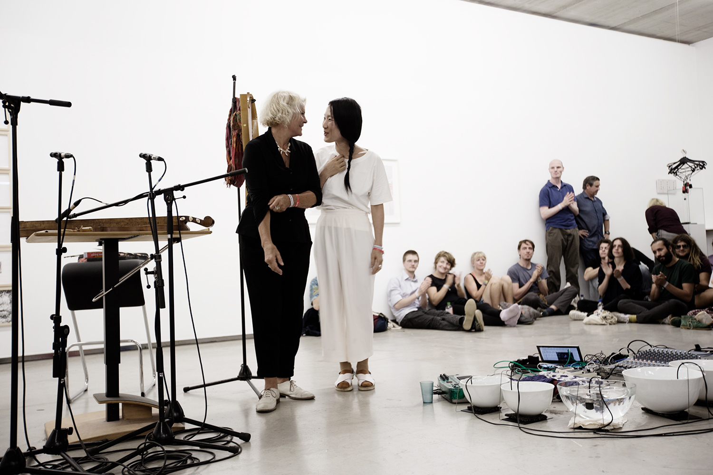 Tomoko Sauvage & Emmanuelle Parrenin by Laurent Orseau - Meakusma Festival - Ikob - Eupen, Belgium #9