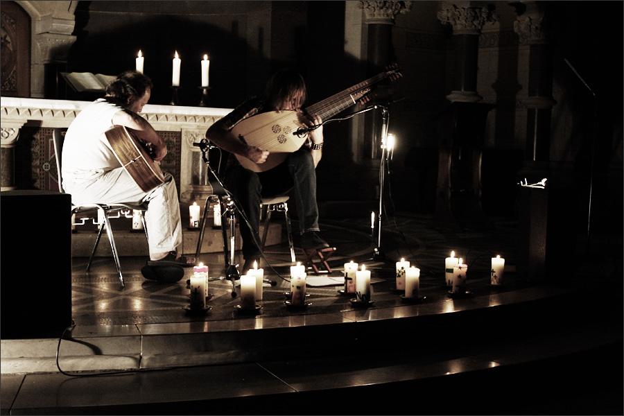 Jozef van Wissem & Steffen Basho-Junghans by Laurent Orseau - Ringkirche - Wiesbaden, Germany #2